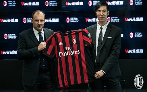 Nhà cái Vwin là đồng minh của CLB AC Milan trong giải mới